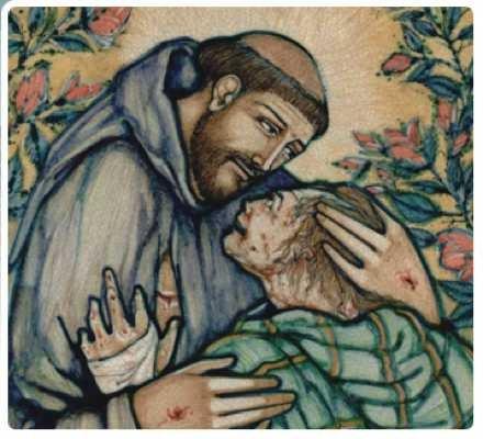 Francis & Leper