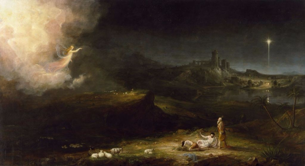 The angel appearing to the shepherds by Cole