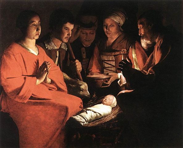 Adoration by George de la Tour