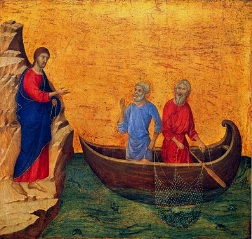 Christ Calling His Disciples by Duccio
