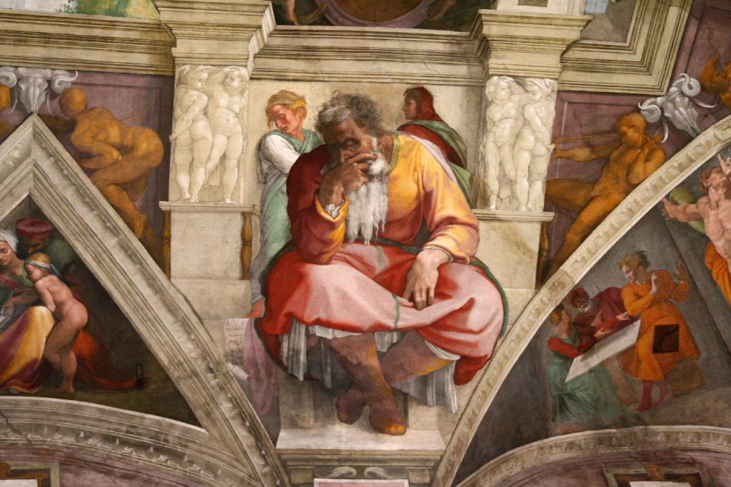 The Prophet Jeremiah in Sistine Chapel by Michaelangelo, O.F.S.