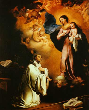 St. Bernard and the Blessed Mother