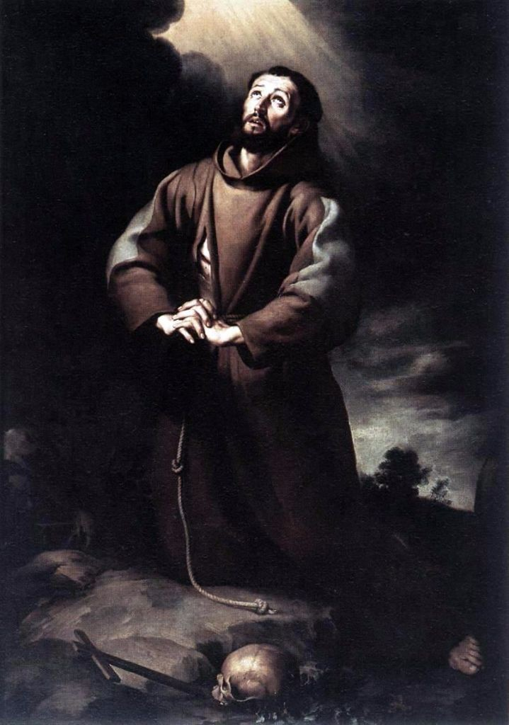 "St. Francis begging the Lord for mercy: ""O wash me more and more from my guilt """