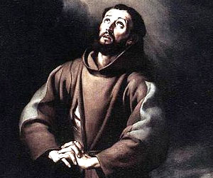 """February 12th - St. Francis begging the Lord for mercy: """"O wash me more and more from my guilt """""""