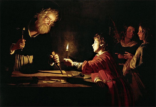 St Joseph in his Workshop by Gerrit Van Honthorst, 1620