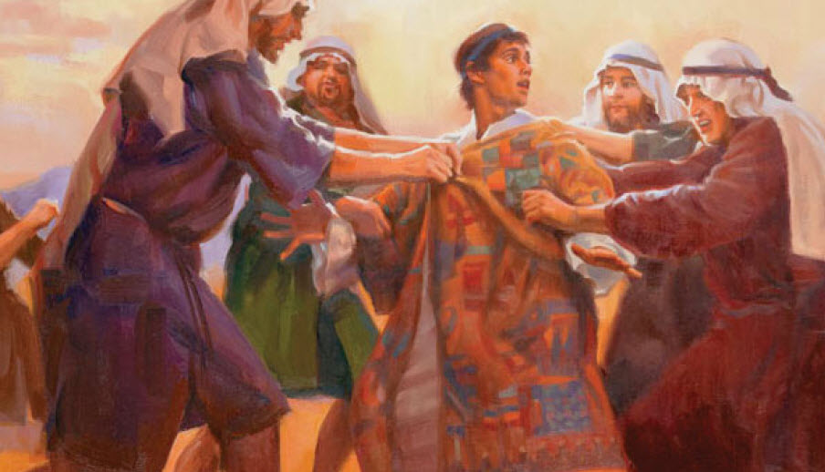 "Joseph ""The Dreamer"" having his robe of many colors stolen and being cast in a pit by his brothers."