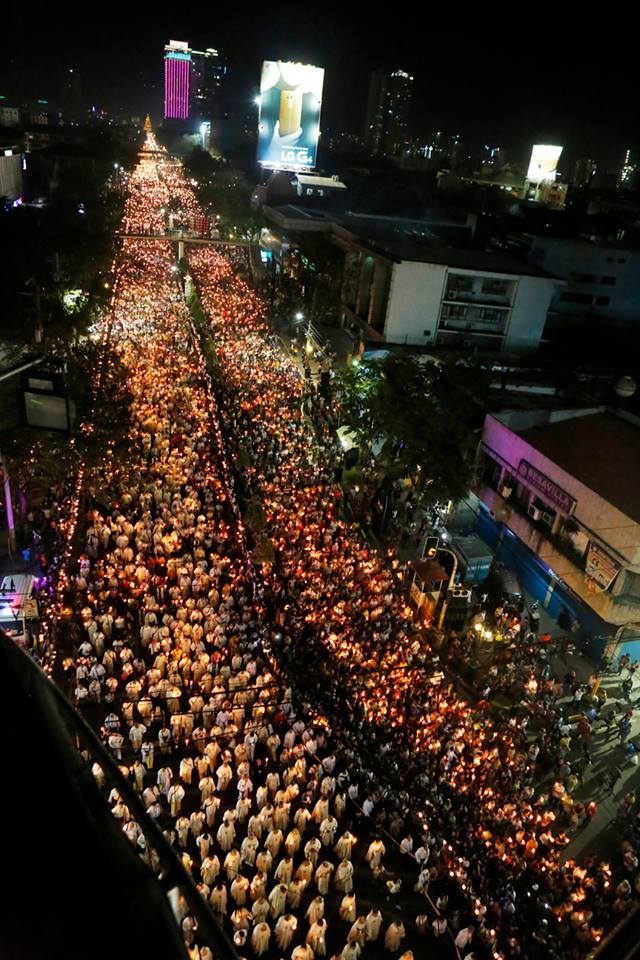 Estimates of 1.5 to 2 million people participating in the Eucharistic Procession in the Philippines for the International Eucharistic Congress in February 2016. Photo courtesy: Fr. Jun Rebayla, SVD
