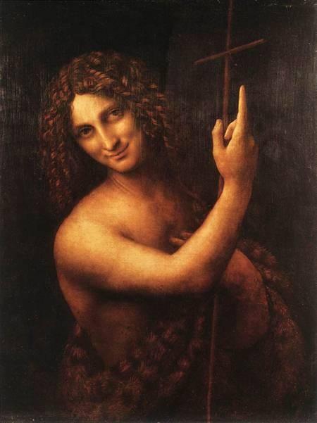 St. John the Baptist by Leonardo DaVinci, O.F.S.