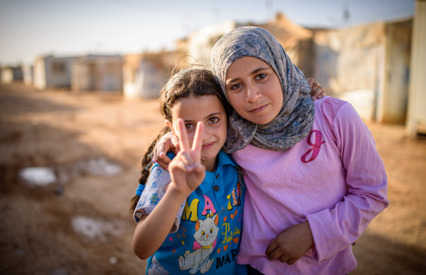 photo: 2 refugee girls from Syria (World Vision)
