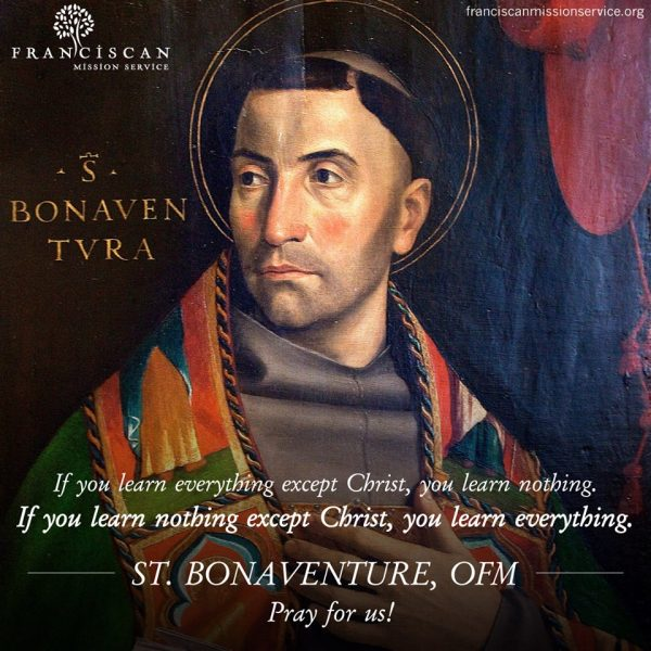 July 15th: Feast of St. Bonaventure - Seraphic Doctor