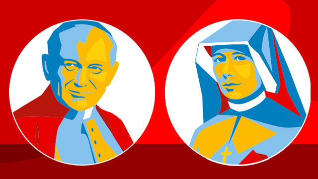 Saints of World Youth Day in Krakow, Poland: Saint John Paul II and Saint Faustina