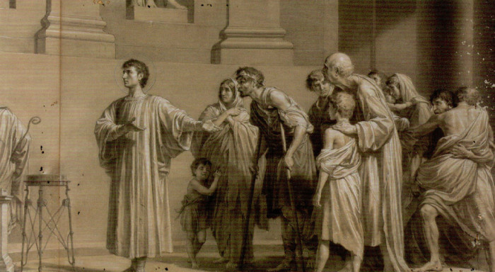 St. Lawrence Presents the Poor as Treasures of the Church