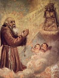 St. Konrad with the Franciscan Crown Rosary