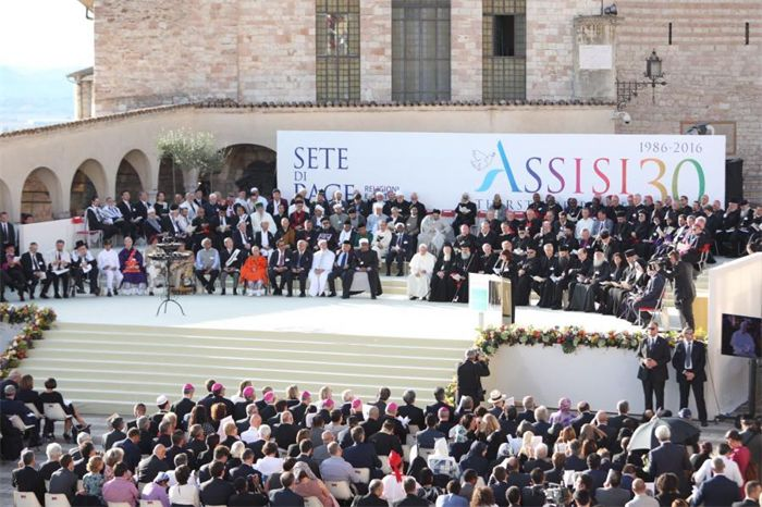 World Day of Prayer for Peace on September 20, 2016 in Assisi, Italy