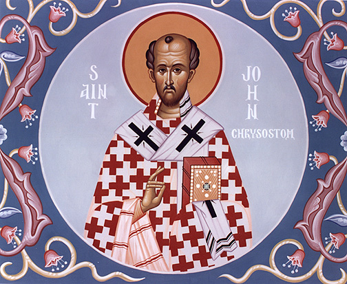 St. John Chysostom (347-407) Doctor of the Church, patron saint of preachers