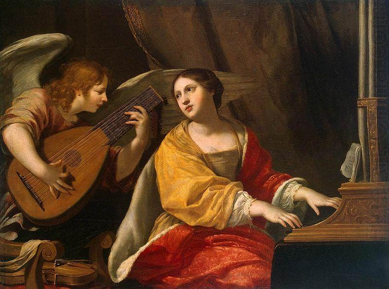 Saint Cecilia, patron saint of music, painting by Jacques Blanchard