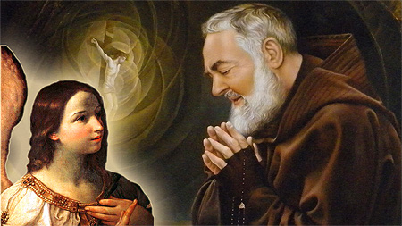 St. Padre Pio and his guardian angel