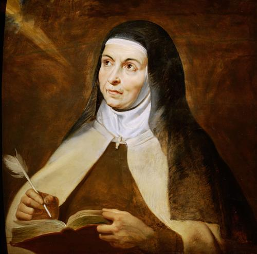 Saint Teresa of Avila (1515-1582) Doctor of the Church and patron saint for those with illness and people in religious orders.
