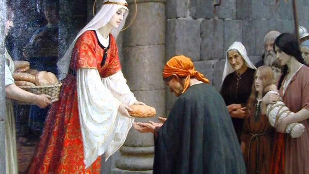 St. Elizabeth of Hungary - patron saint of the Secular Franciscan Order.