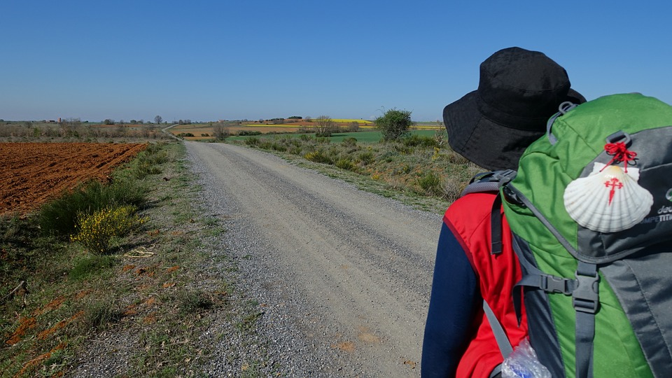 Pilgrimage on The Camino de Santiago (Way of St. James) in Spain.