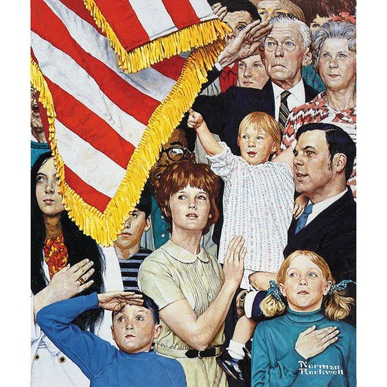 Salute the Falg by Norman Rockwell